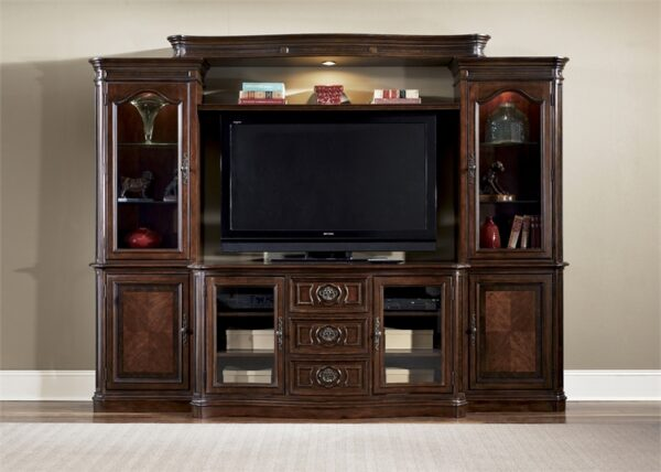 Andalusia Vintage Cherry Finish 118 Entertainment Center
